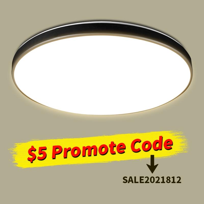 Ультратонкие светодиодные потолочные светильники для гостиной, современные светодиодные панели для поверхностного монтажа, потолочные св...