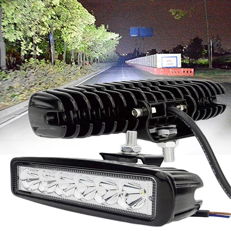6 LED 12W Car DRL Work Lights Spotlight Universal Offroad Automobile Truck Driving Fog Spot Lamp Headlight 1Pcs/2Pcs Light Bar