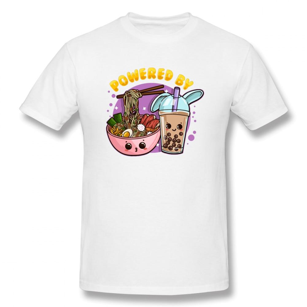 2020 Nieuwe Bubble Thee Aangedreven Door Ramen En Bubble Thee C Mannen Basic Korte Mouw T-shirt Europese Maat