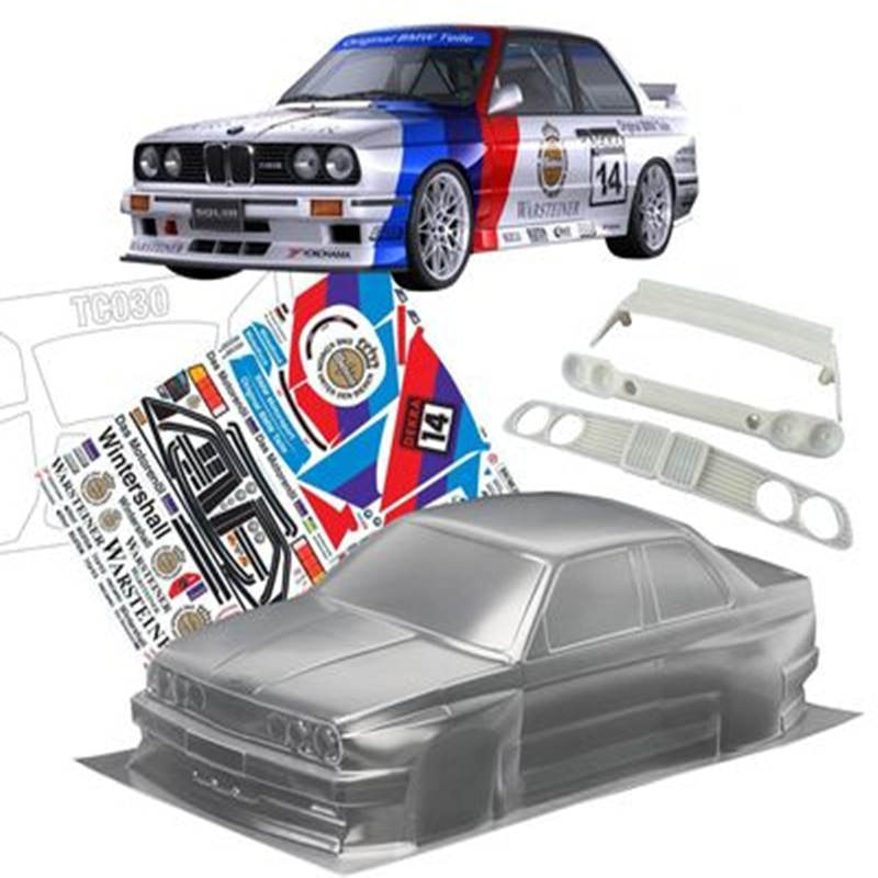 1set E30 M3 Sport Evolution 1/10 drift RC PC body shell 190 width Transparent clean no painted hsp hpi trax Tamiya