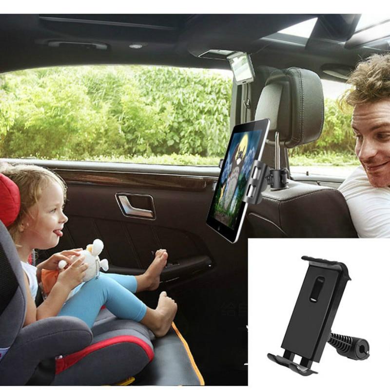 Автомобильный держатель для планшета, телефона, сиденья, регулируемая подставка для iPad, автомобильный держатель для телефона на подголовни...