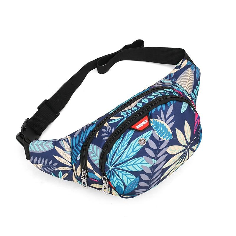 Fashio Large Capacity Nylon Pillow Waterproof One Shoulder Unisex Waist Bag for Men and Women