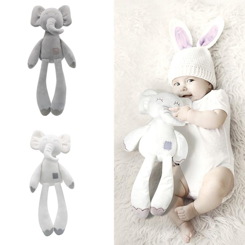 0-12 Month Elephant Toys Infant Kid Animal Hanging Ring Toy Sleeping Cute Bunny Bear Rabbit Bed Stroller Plush Doll Pram игрушки