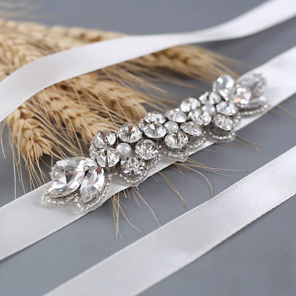 Женский Блестящий Пояс для подружки невесты TRiXY S330 серебряный пояс свадьбы