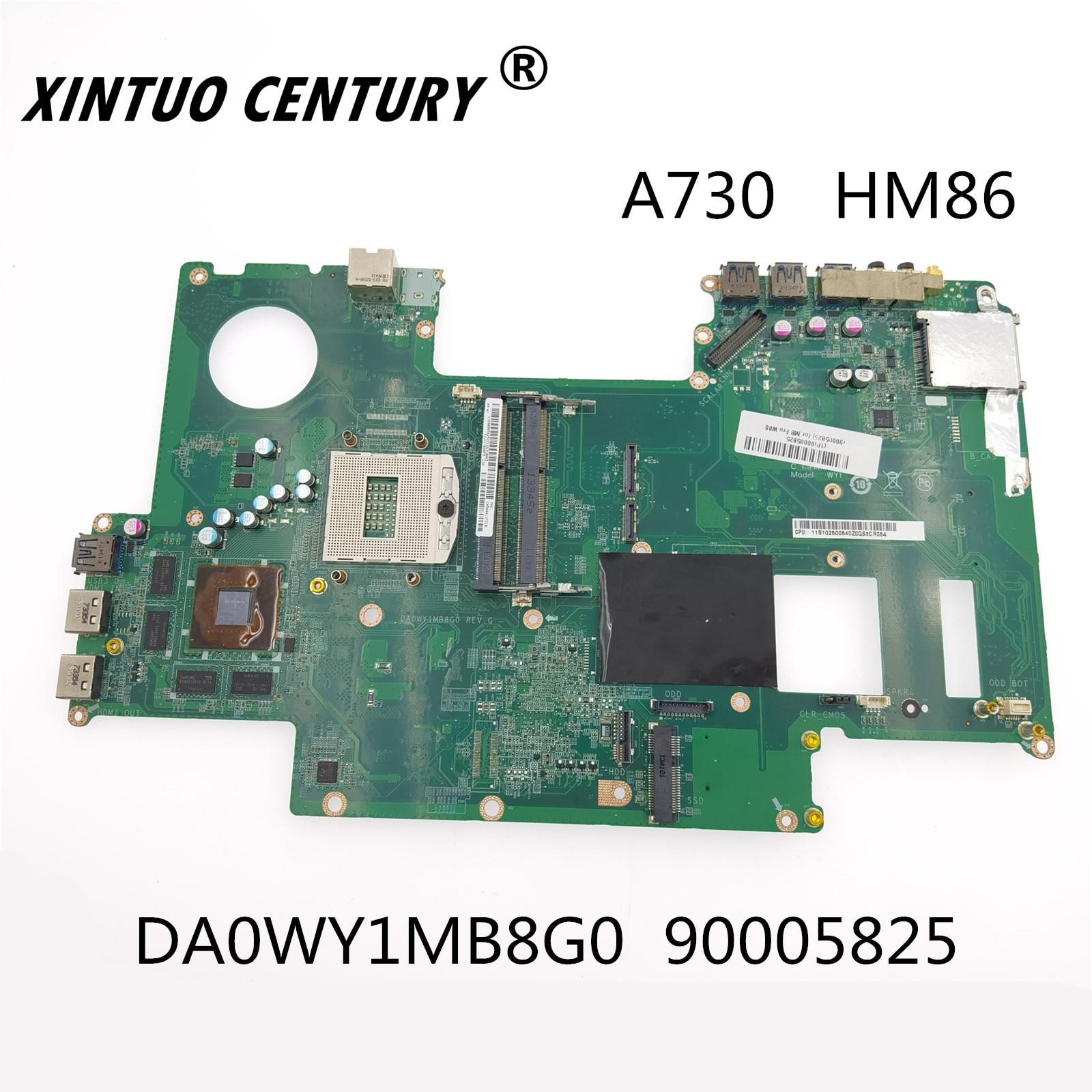 لوحة أم للكمبيوتر المحمول لينوفو A730 DA0WY1MB8G0 90005825 HM86 DDR3 لوحة أم للحاسوب المحمول 100% اختبار