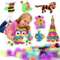 100-1200 шт. колючий шар кластеры 3D модель строительные блоки игрушки липкий буфами на рукавах шарики головоломка сборка