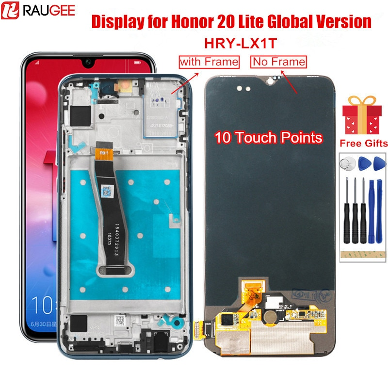 Pantalla LCD Original para Honor 20 Lite HRY-LX1T LCD pantalla táctil de reemplazo con marco para Huawei Honor20 Lite versión Global