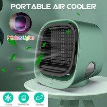 Mini taşınabilir klima çok fonksiyonlu nemlendirici arıtma USB masaüstü HAVA SOĞUTUCU Fan Arctic hava su deposu ev 5V