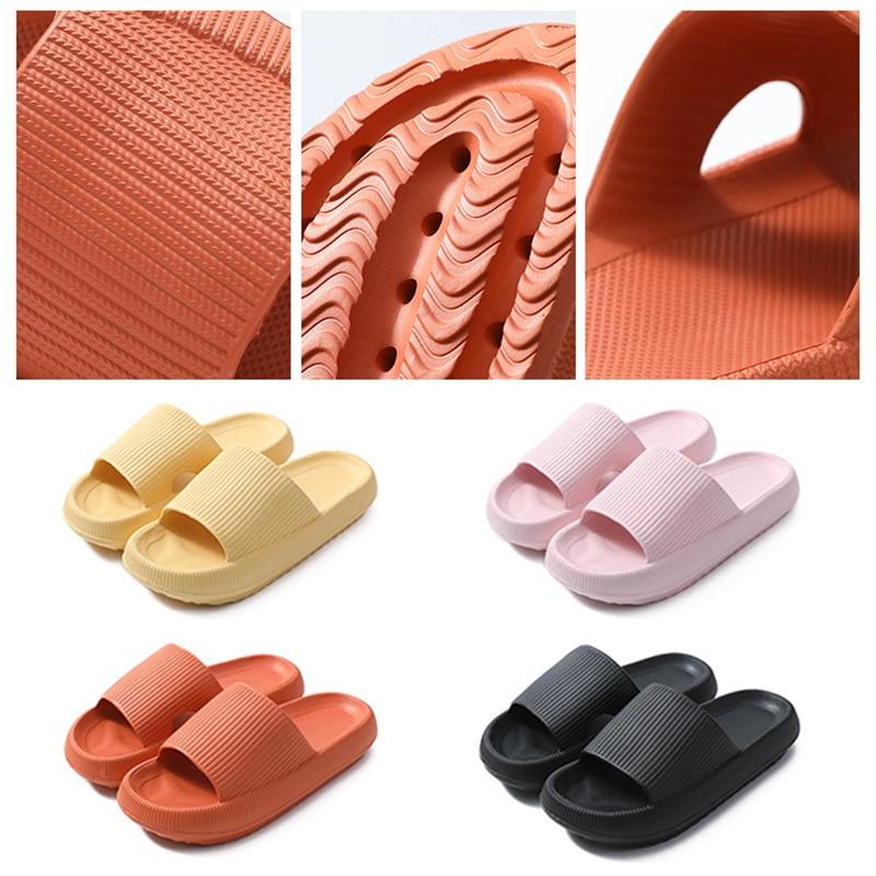 NoEnName_Null Super Soft sandalias chanclas para casa de Color sólido sandalias antideslizantes con suela gruesa Alippers de baño al aire libre para Unisex