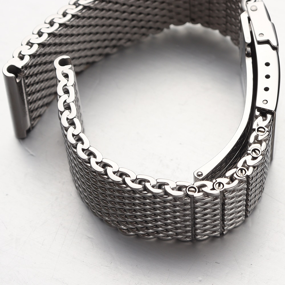 316l Stainless Steel Watchband Solid Metal Band For Breitling Ab2010 Watch Strap Mens Luxury 22 24mm Mesh Bracelet enlarge