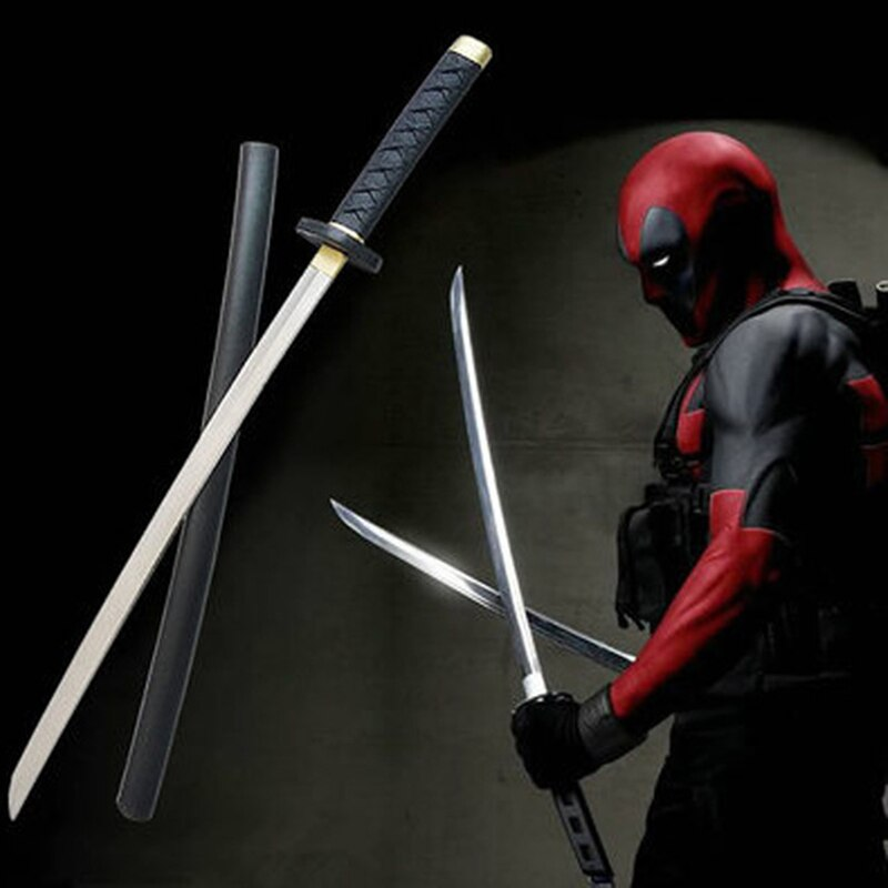 61cm Movie Deadpool Cosplay Equipment PU Foam Sword stage property Modle Toy Larp Party Costume Accessories