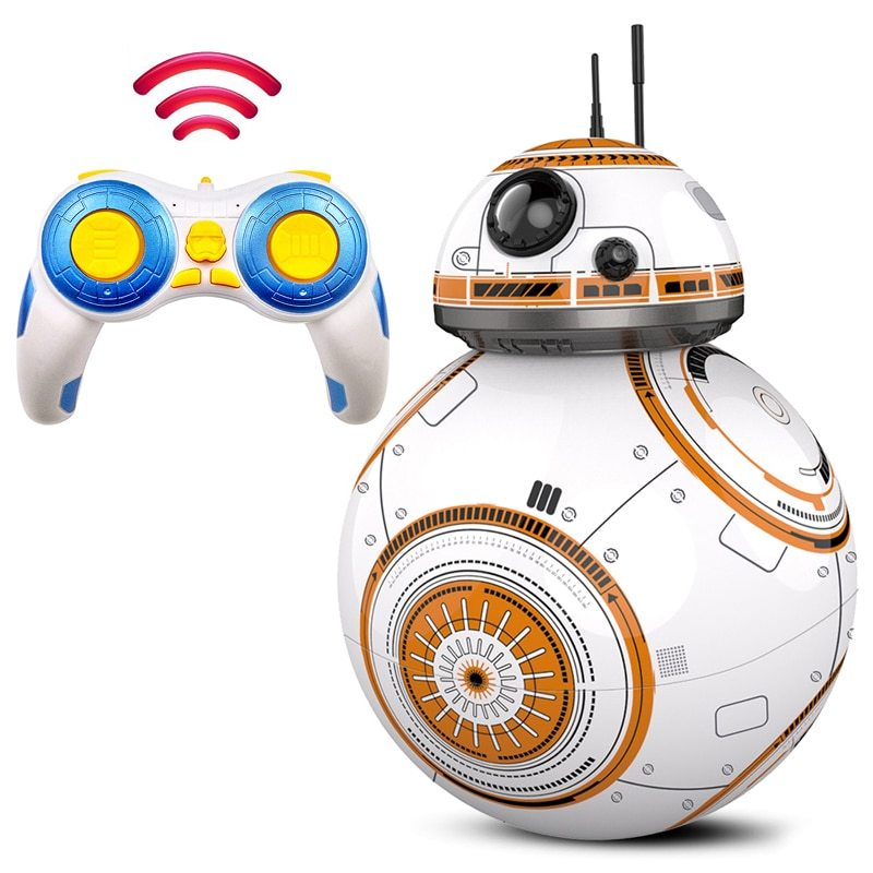 Intelligent RC BB8 Robot Upgrade With Music Sound RC Car Droid Ball BB-8 Action Figure 2.4G Remote C