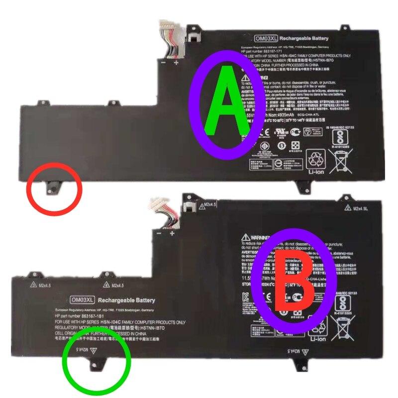 جديد OM03XL HSTNN-I04C HSTNN-IB70 863167-171 863280-855 863167-1B1 بطارية كمبيوتر محمول ل HP بي EliteBook X360 1030 G2 11.55V 57Wh