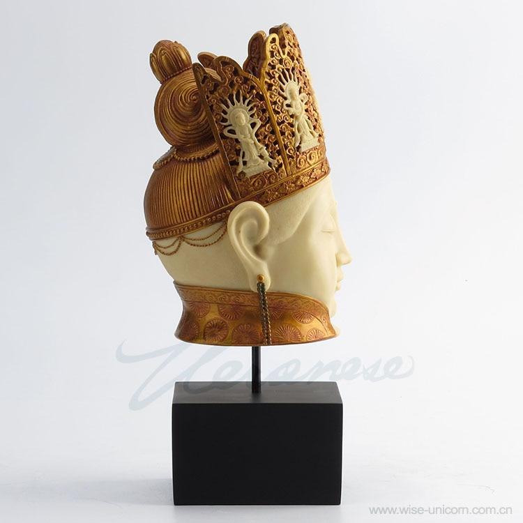Adornos creativos de Weroni marfil Bodhisattva y Guanyin Fife casa fábrica estatua figura escultura hogar fábrica Accesorios