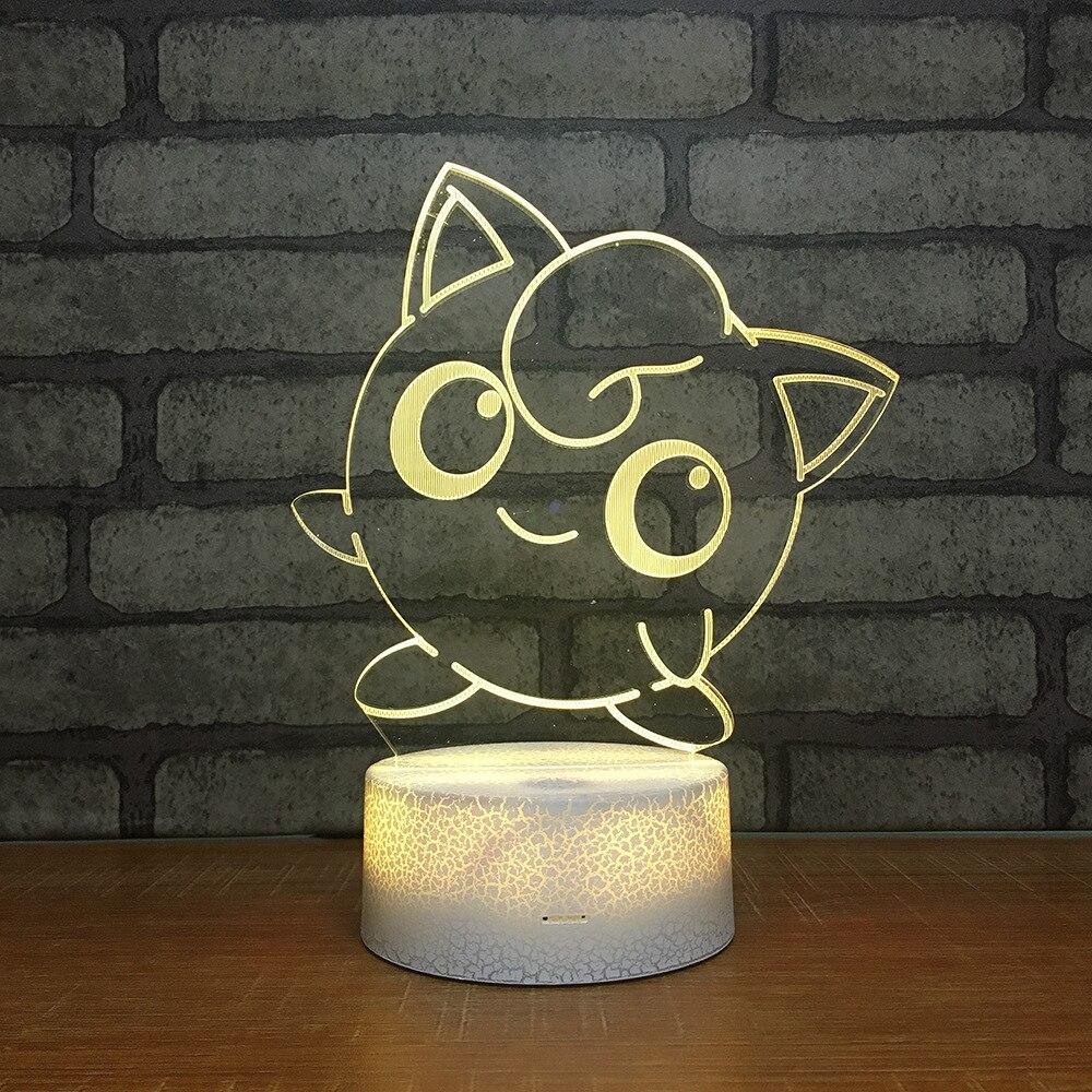 Luz de noche LED RGB de 7 colores para cambiar la luz de escritorio 340 figura de acción PVC juguetes para niños regalo de Navidad