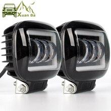 6D Lens 5 Inch Led Work Light Bar 12V 24V For Car 4x4 Off road Motorcycle Truck Niva UAZ ATV Led Angel Eyes Flood Driving Lights