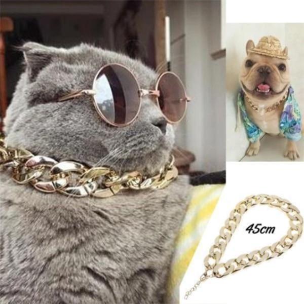 Quente cubana link grosso pedaço corrente colar cão coleira de segurança animais de estimação jóias ti99