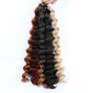 Crochet Deep Wave 18inch for Locs Braid Hook Hair Extension