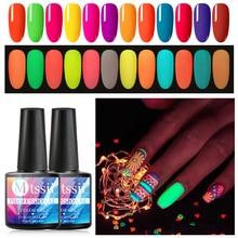 Gel lumineux vernis à ongles lueur dans le noir Gel vernis tremper la couleur UV vernis à ongles Fluorescent lumineux néon Gel laque