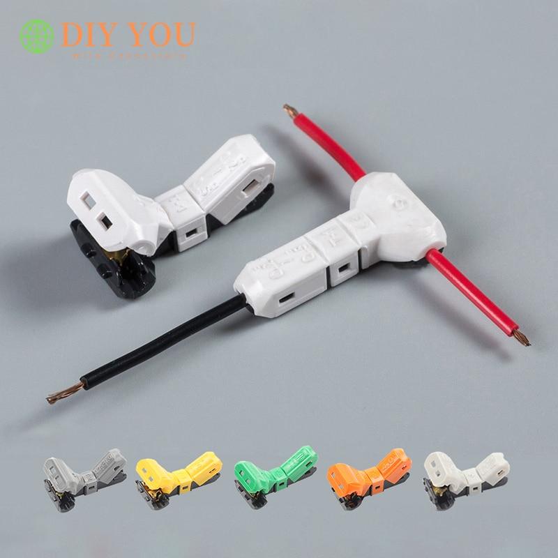 Conectores de Cable JOWX T-1/2/3/4/5/21 terminales de tipo T bloque de cables sin pelar conector de cableado Junta 23-10AWG 0,3-4mm2