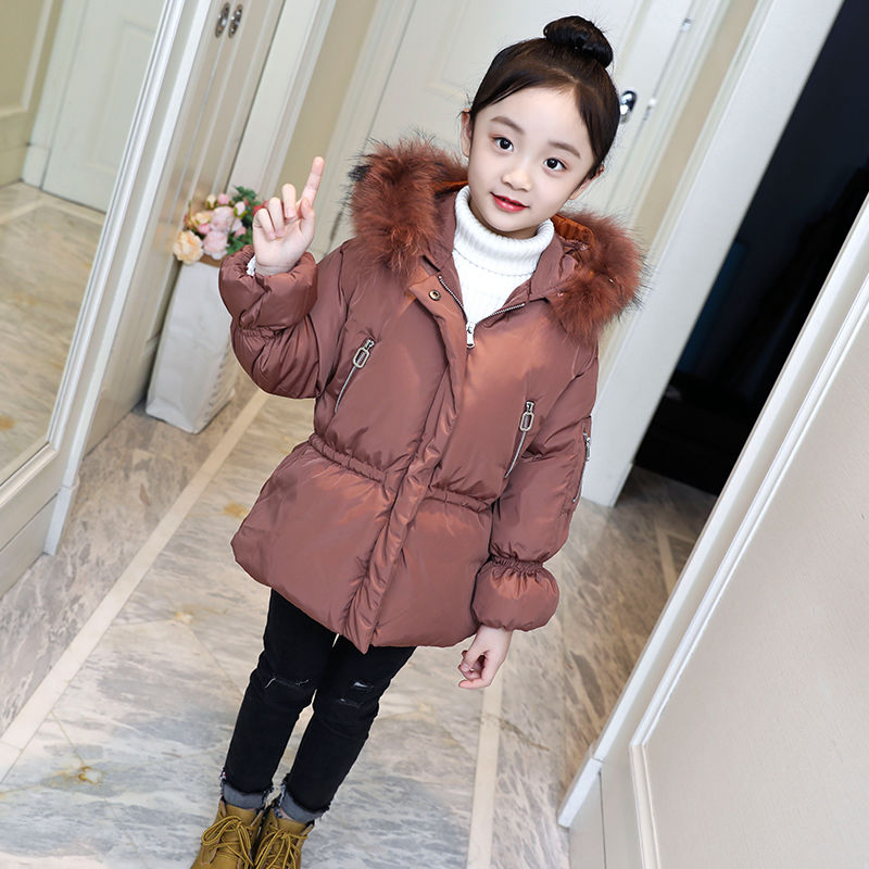 2020 Winter New Girls Coats Kids Zipper Casual Jackets Fashion Hooded Thick Warm Parkas Children Outerwear Kids Clothing W742 enlarge