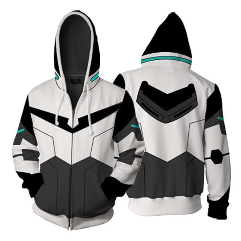 Voltron 3d Hoodies Shiro/Jake/hunk/Pidge/Princess Allura Cosplay sudaderas con capucha chaqueta sudadera para hombre