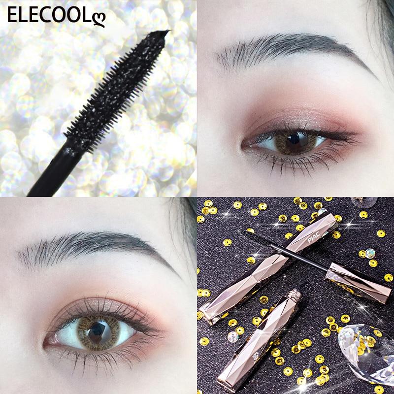 ELECOOL Mascara Natural 3D Fiber Waterproof Black Mascara Eyelash Long Curling Lashes Extension Beauty Eye Lashes Cosmetics
