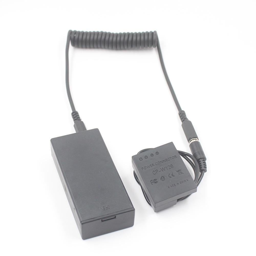 DC Coupler Digital Camera Power Adapter Dummy Battery for Fuji Fujifilm Plug In Np-w126s W126S HS30EXR HS33EXR X-pro1 X-T1