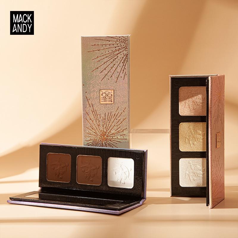 3 Colors Highlighter Palette Makeup Face Contour Powder Bronzer Make Up Blusher Professional Blush Cosmetics