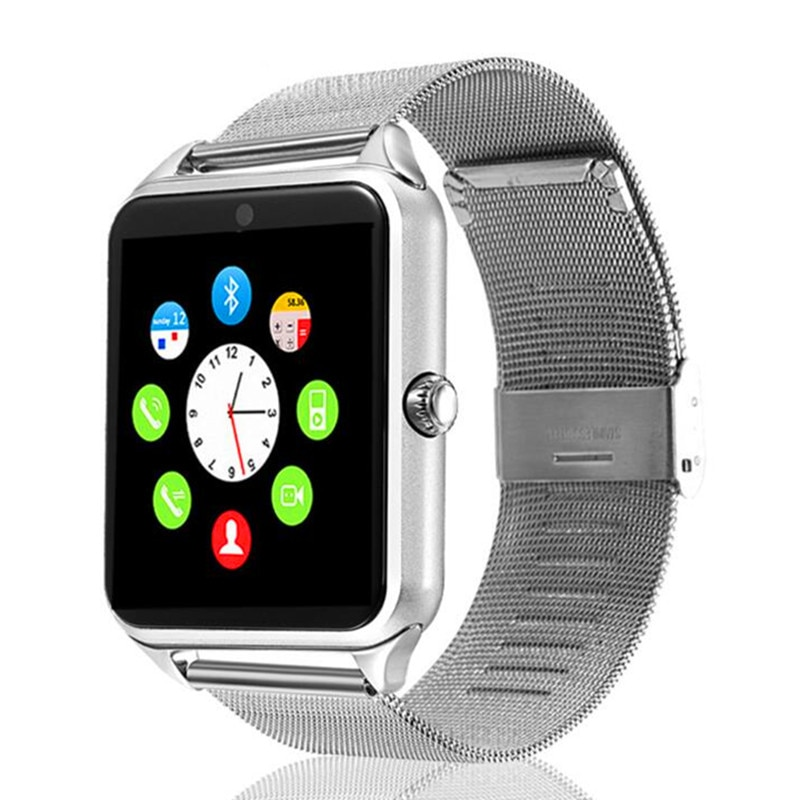 Higher Quality Z60 Smart Watch Men Women Metal Strap Bluetooth Wristwatch Support Sim TF Card Smartwatch Android IOS 2021