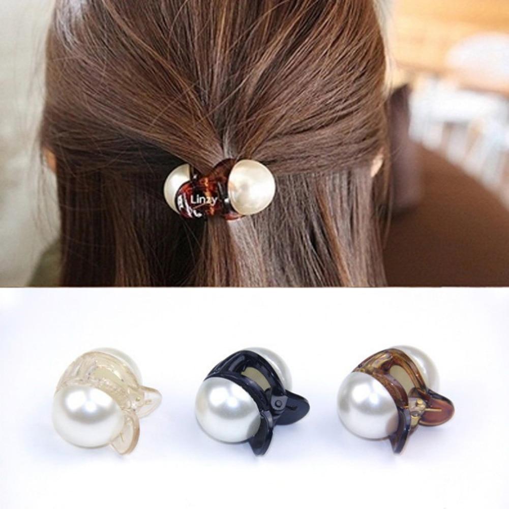 Korėjietiški mieli mini apvalūs perlų plaukų smeigtukai moterims - Drabužių priedai - Nuotrauka 2
