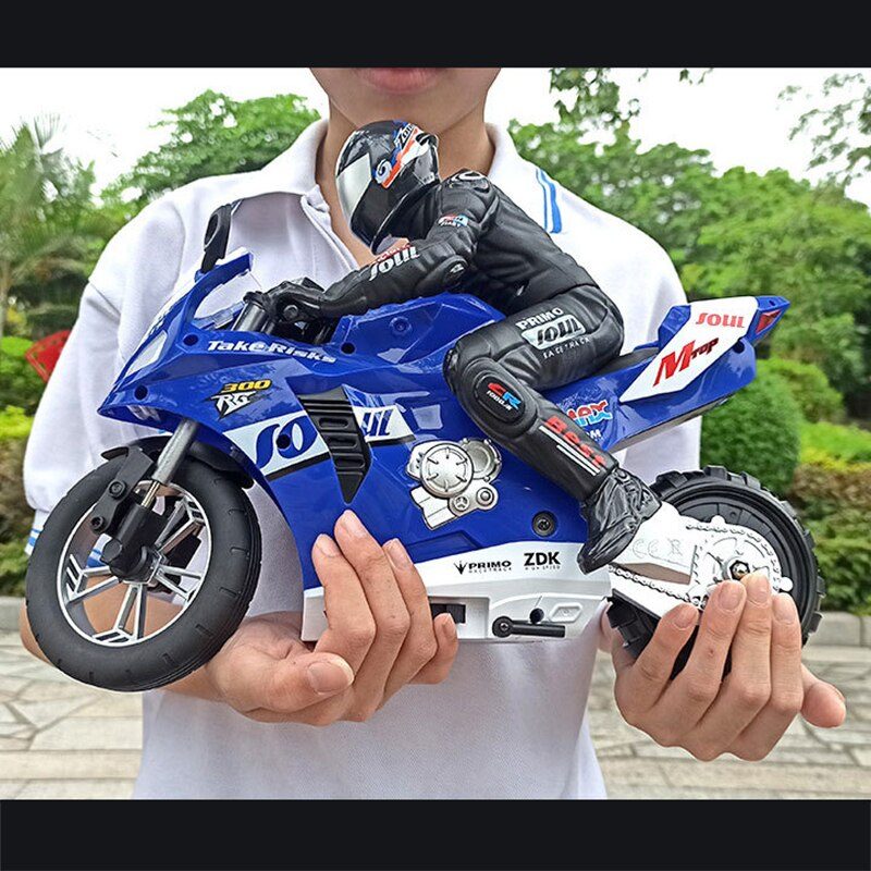 RC motorcycle car 2.4G Radio remote control stunt drift Self-balancing 360 rotation high speed Fancy stunts toy vehicle child enlarge
