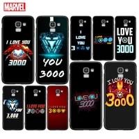 marve love you 3000 cover for samsung galaxy j8 j7 duo j6 j5 prime j4 plus j3 j2 core 2018 2017 2016 black phone case