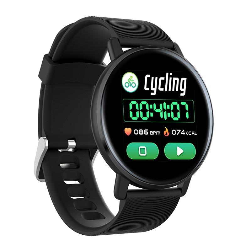 Reloj inteligente de colores para hombres, Monitor de ritmo cardíaco resistente al agua, reloj de seguimiento de Fitness, Control de música, reloj inteligente podómetro para iOS Android