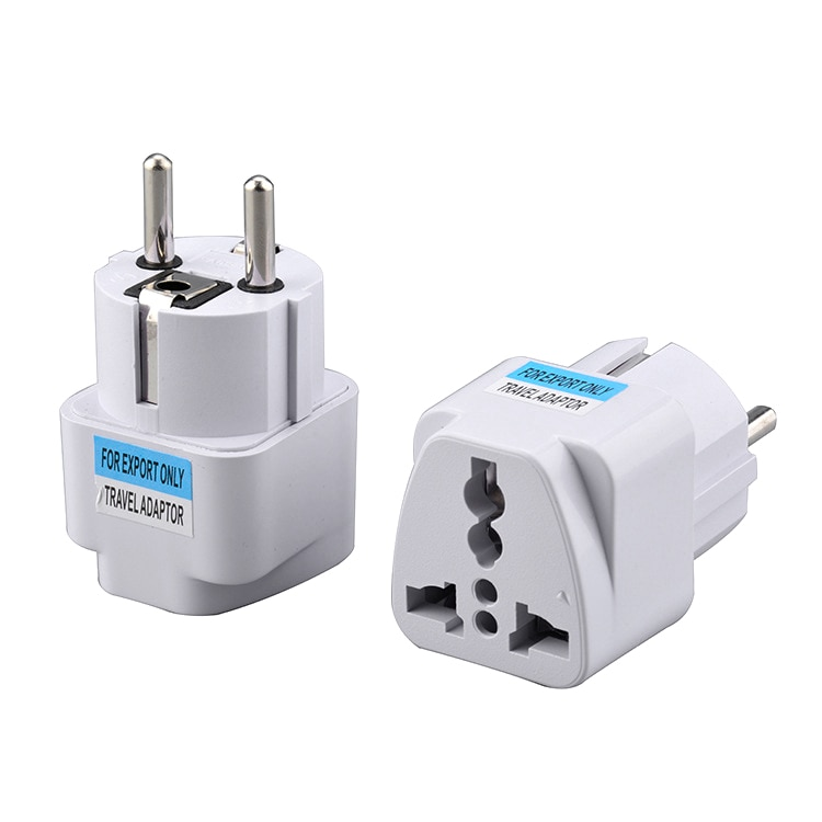 1 pièces blanc universel ue prise adaptateur prise de courant européenne blanc voyage Portable convertisseur prise de Conversion Smart Home