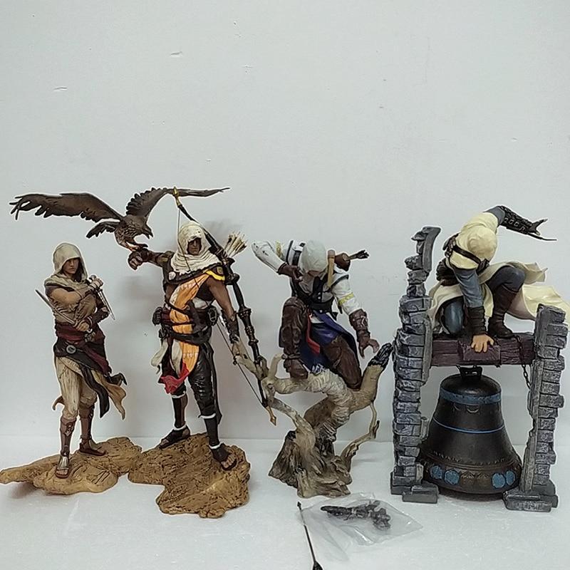 4 tipos Assassin Creed Bayek Aya figura Altair Conner figura de acción juguetes legendarios modelo juguete para regalo