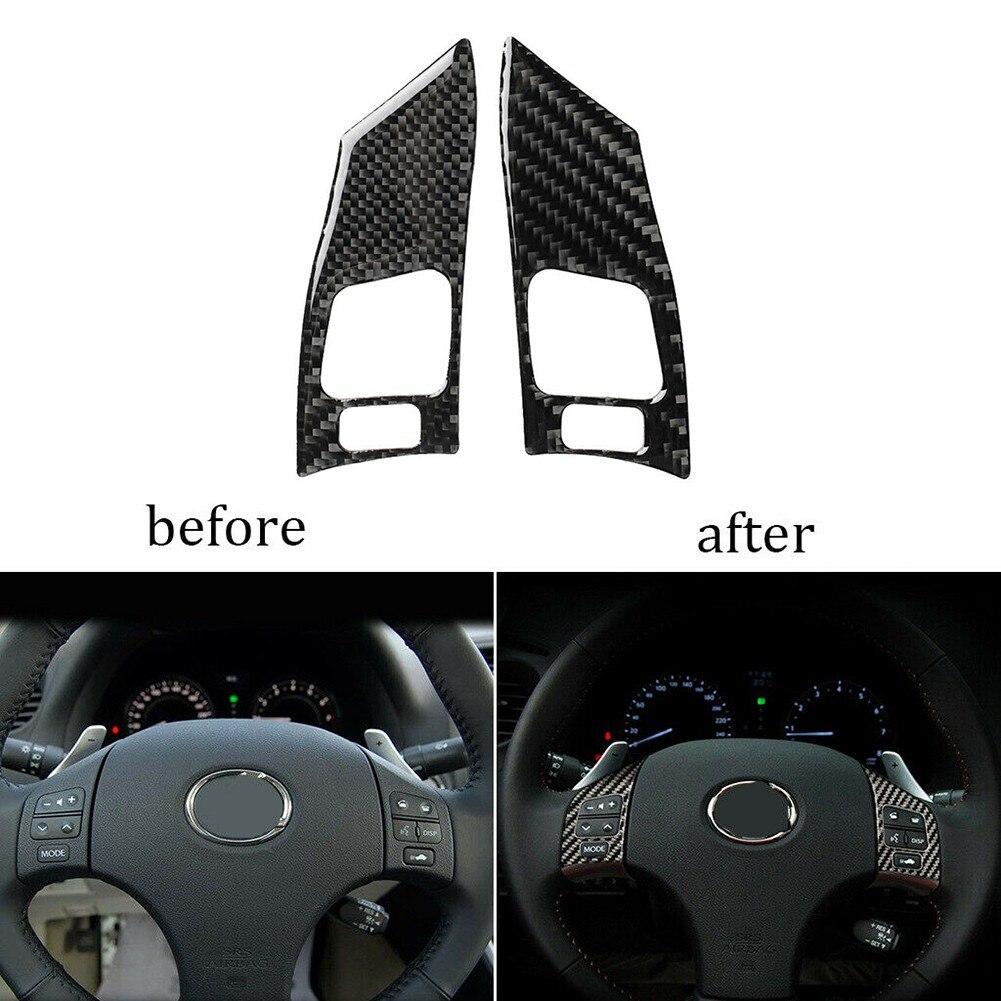 Внутренняя отделка рулевого колеса из углеродного волокна для Lexus IS250 350 2006-2012, чехол для колеса, отделка, автомобильные аксессуары