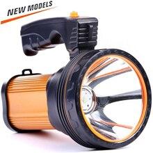 Potente linterna LED de 150 lúmenes, reflector con batería integrada de 50000 mAh, foco de caza impermeable para exteriores, 8000 W