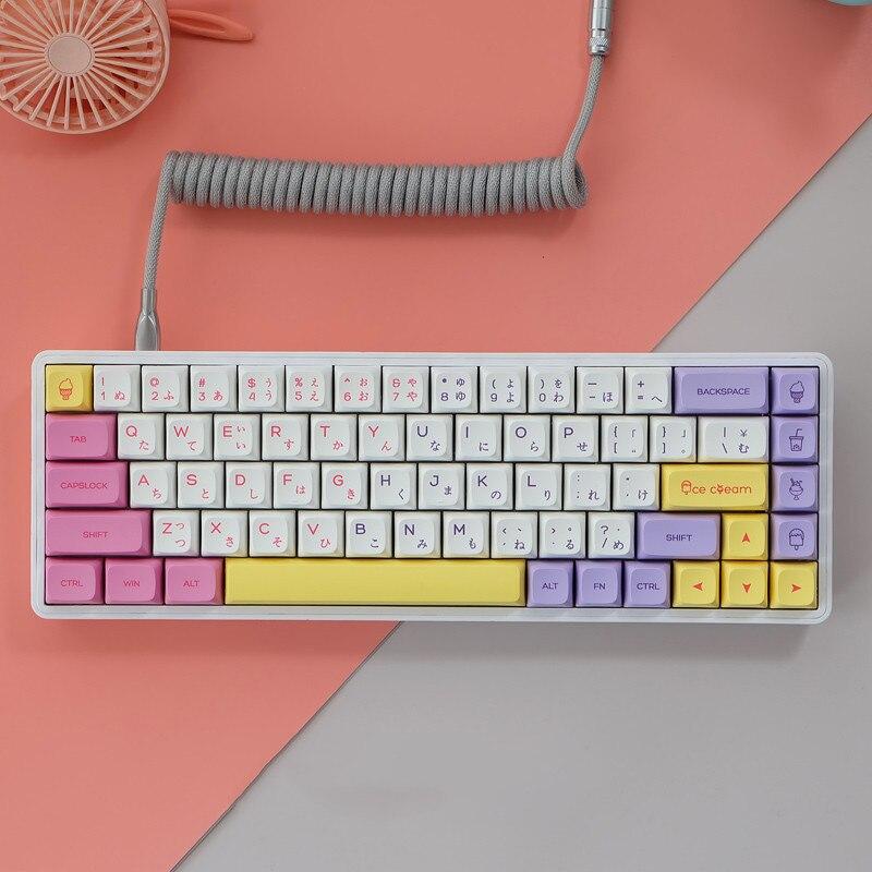 145 مفاتيح/مجموعة الآيس كريم قبعات المفاتيح ل MX التبديل لوحة المفاتيح الميكانيكية PBT صبغ غطاء المفتاح XDA الشخصي