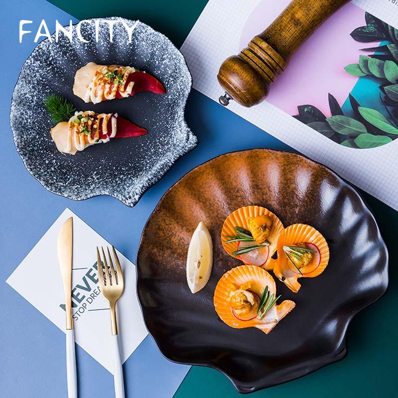 أطباق سيراميك ، أدوات مائدة يابانية ، أطباق منزلية ، بسيطة وشخصية إبداعية ، على الطراز الغربي