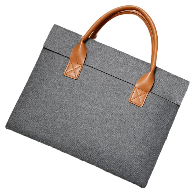 Suitable for Apple Huawei laptop bag stylish lightweight men's laptop bag 13 14 15.6-inch business leather briefcase 2021 new
