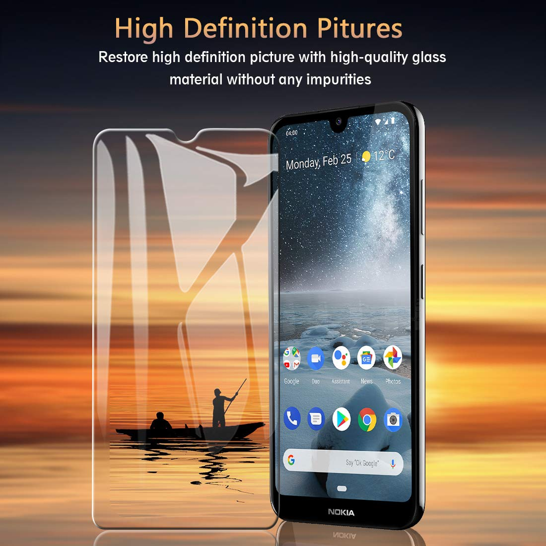 Tempered Glass For Nokia 7.2 6.2 2.2 4.2 3.2 9H screen protector Protective Explosion-proof film glass