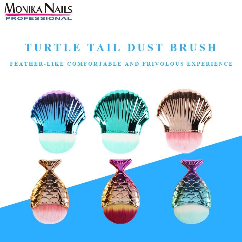 Face Blush Brush Professional Mermaid Shape Makeup Brush Foundation Cosmetic Fish Brush Makeup Tools Kit Powder nail art tool недорого