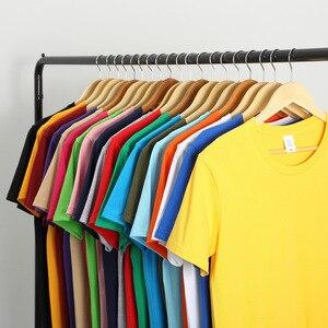 2020 tout nouveau coton hommes T-shirt à manches courtes homme T-shirt à manches 523# courtes couleur Pure hommes T-shirt