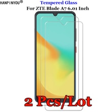 2 Pcs/Lot For ZTE Blade A7 Tempered Glass 9H 2.5D Premium Screen Protector Film For ZTE Blade A7 6.0