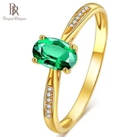 bague ringen new arrivals simple 925 sterling silver women jewelry rings with gold color emerald opening rings for lady party