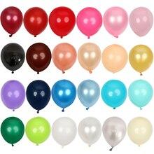 20/50/100 Uds. Globos dorados de látex grises de 5 pulgadas Mini Globos azules de fiesta oscuros Baby Shower decoraciones para bodas cumpleaños niños suministro