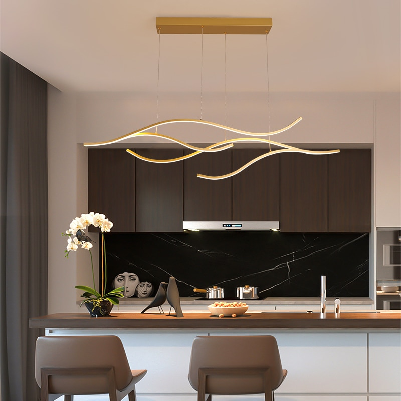 NEO Gleam-مصباح معلق LED بتصميم إبداعي وحديث ، إضاءة داخلية زخرفية ، مثالي لغرفة المعيشة أو المطبخ أو غرفة الطعام أو البار.