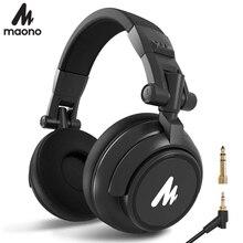 MAONO Professional DJ Studio 모니터 헤드폰, 귀 및 분리형 플러그 및 케이블, DJ Studio a AU-MH601 용 50mm 드라이버 포함