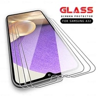 3pcs tempered glass for samsung galaxy a32 5g 4g a12 a02s a02 a52 a72 m62 m02s screen protector samsun a 12 02 32 protect film
